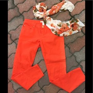 Life in Progress Orange Jeans/ Scarf💥 D3